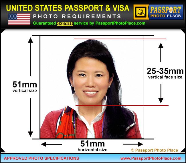 US Passport, USA Visa photo requirements